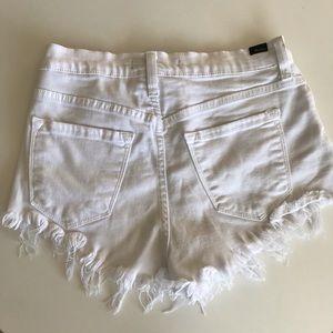 Kancan White shorts high waist jeans short